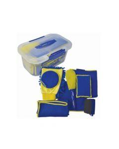 Kit de limpieza de 9 Piezas de microfibra. Incluye Estuche. Modelo: GY-VCE-167