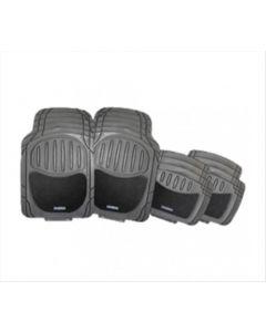 Goodyear - Cubre alfombras Good Year de PVC con vellour de 4 piezas. Modelo: GY-CM-421-RC