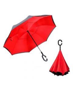 Paraguas Invertido Reversible Reforzado - Rojo