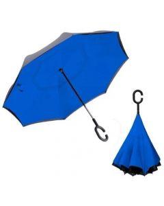 Paraguas Invertido Reversible Reforzado - Azul
