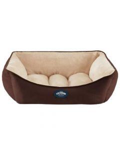 Cocooning - ANDY Cama para perros Chocolate- Medium