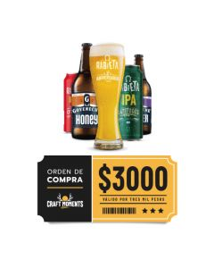 Craft Rabieta - Cerveza Artesanal y Vinos- Voucher Tienda Online $3000