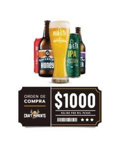 Craft Rabieta - Cerveza Artesanal y Vinos - Voucher Tienda Online $1000