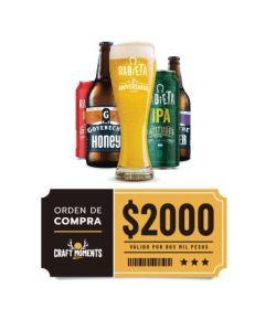 Craft Rabieta - Cerveza Artesanal y Vinos- Voucher Tienda Online $2000