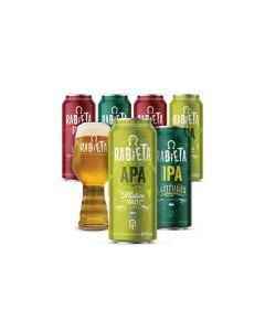 Craft Rabieta - Voucher Online- Cerveza COMBO LUPULADAS RABIETA 473CC X12