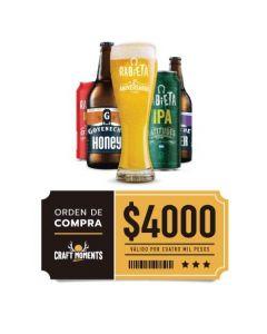 Craft Rabieta - Cerveza Artesanal y Vinos- Voucher Tienda Online $4000