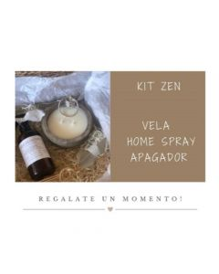 KIT ZEN - Vela cemento gris - Home Spray - Apagador