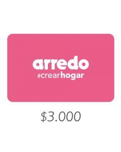 Arredo - Gift Card Virtual $3000