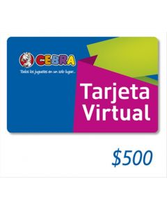 Cebra - Gift Card Virtual $500