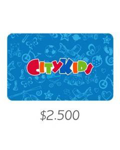City Kids - Gift Card Virtual $2500