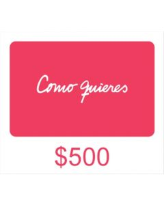 Como quieres - Gift Card Virtual $ 500
