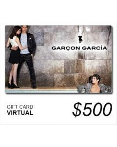 Garçón García - Gift Card Virtual $ 500