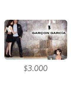 Garçón García - Gift Card Virtual $3000