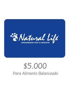 NATURAL LIFE - Gift Card Virtual $5000- Para Alimento Balanceado