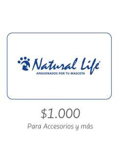 NATURAL LIFE - Gift Card Virtual $1000- Para Accesorios y más