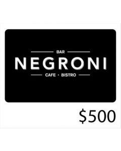 Negroni - Gift Card Virtual $500