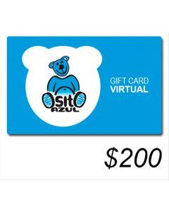 Osito Azul - Gift Card Virtual $ 200