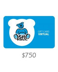 Osito Azul - Gift Card Virtual $750