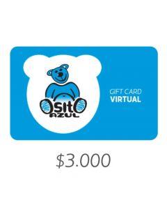 Osito Azul - Gift Card Virtual $3000