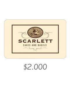 Scarlett Cakes - Gift Card Virtual $2000