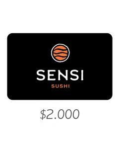 Sensi Sushi - Gift Card Virtual $2000