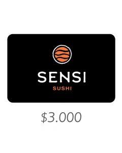 Sensi Sushi - Gift Card Virtual $3000