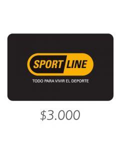 Sportline - Gift Card Virtual $3000