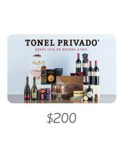 Tonel Privado - Gift Card Virtual $200
