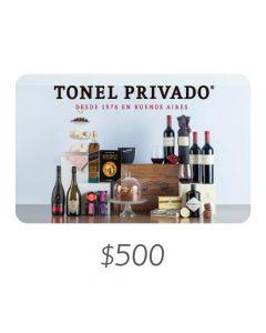 Tonel Privado - Gift Card Virtual $500