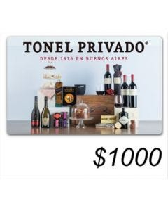 Tonel Privado - Gift Card Virtual$ 1000