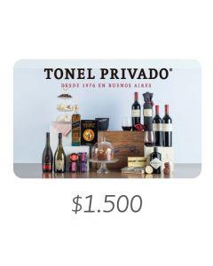 Tonel Privado - Gift Card Virtual $1500