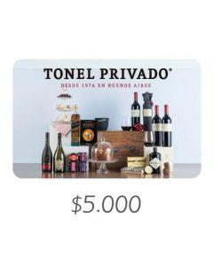 Tonel Privado - Gift Card Virtual $5000
