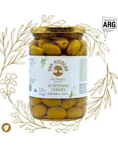 Aceitunas Verdes orgánicas 500gr