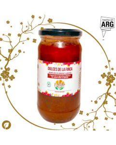 Mermelada de Durazno y Albahaca 395gr- Finca Paru