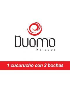 Duomo Heladerias - 1 Cucurucho con dos bochas de helado
