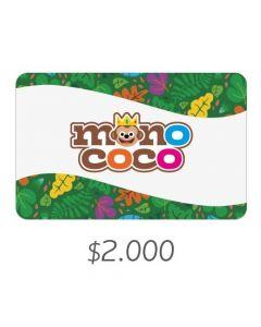 MONO COCO - Gift Card Virtual $2000