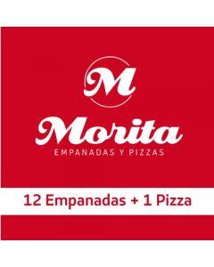 Morita - 12 EMPANADAS Y 1 PIZZA
