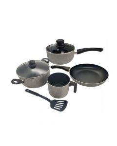 Cocina - Bateria de cocina 7 piezas gris granito