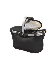 Ofertas Outdoor - Canasta de Picnic con cooler. Color: Negra