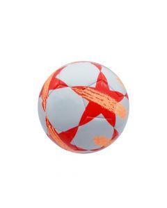 Pelota de futbol blanca y naranja