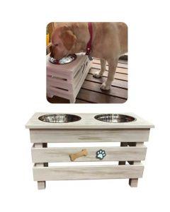 Ofertas Hogar - Comedero y bebedero en altura para mascotas. Modelo: AP30