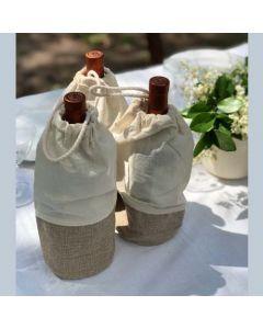 Set x 3 bolsas ecologicas para botellas material- MOS
