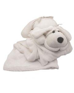 Manta Polar con almoahada de Peluche- Diseño perro