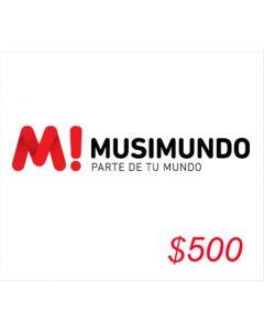 Musimundo - Voucher $500