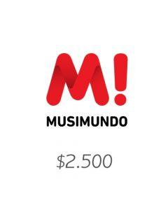 Musimundo - Voucher $2500