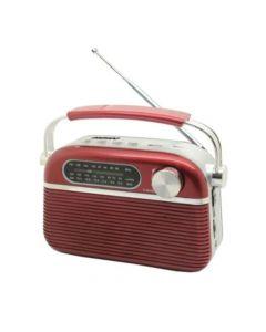 Radio Dual Retro Con Dial Clásico Am/fm - Negro O Madera