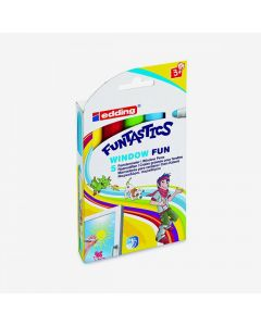edding Funtastics window fun – Marcadores para vidrio x 5 colores