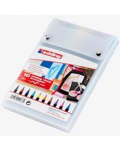 edding - Estuche de marcadores punta pincel edding x 10 colores